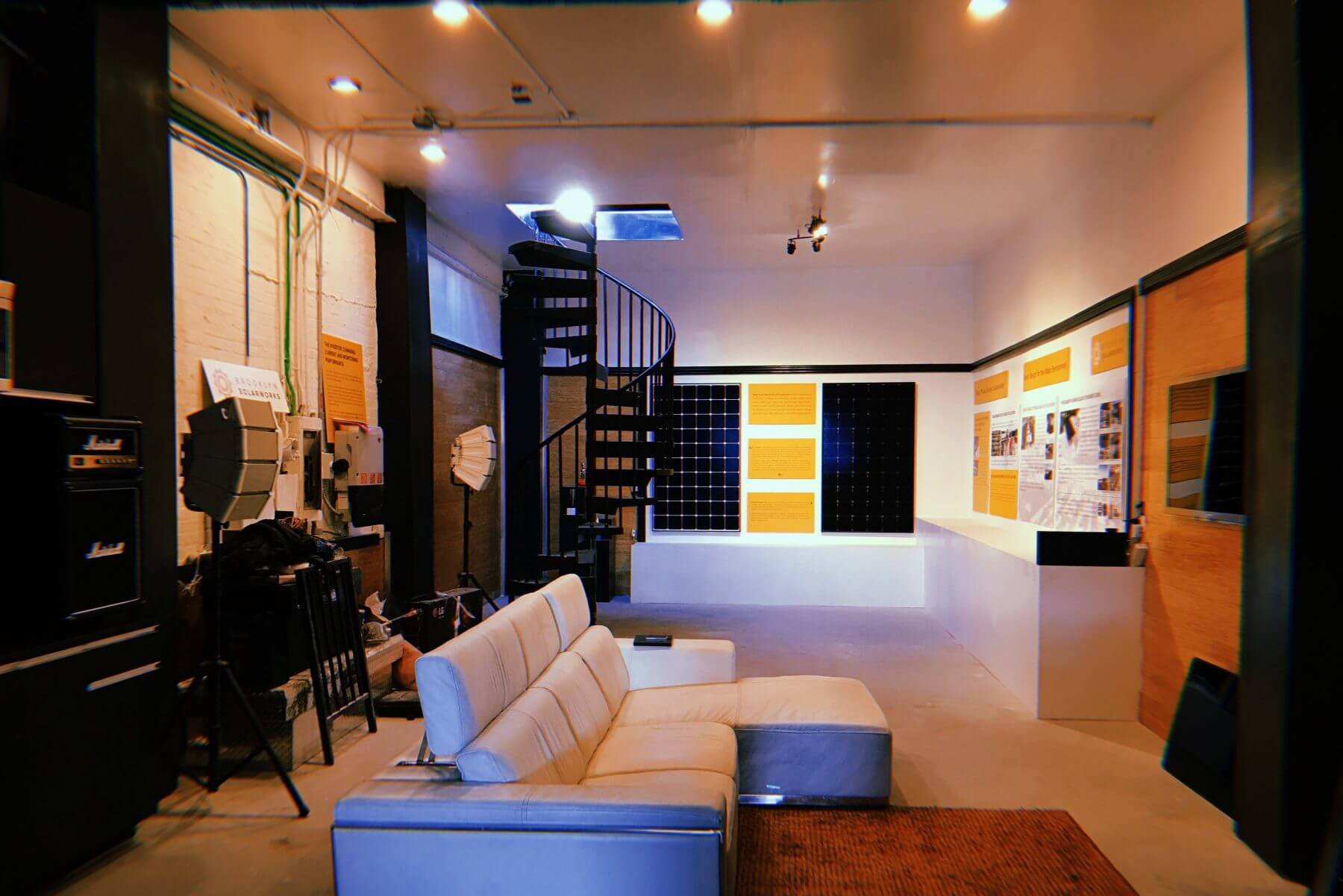 The showroom is outfitted for individual tours and special events.