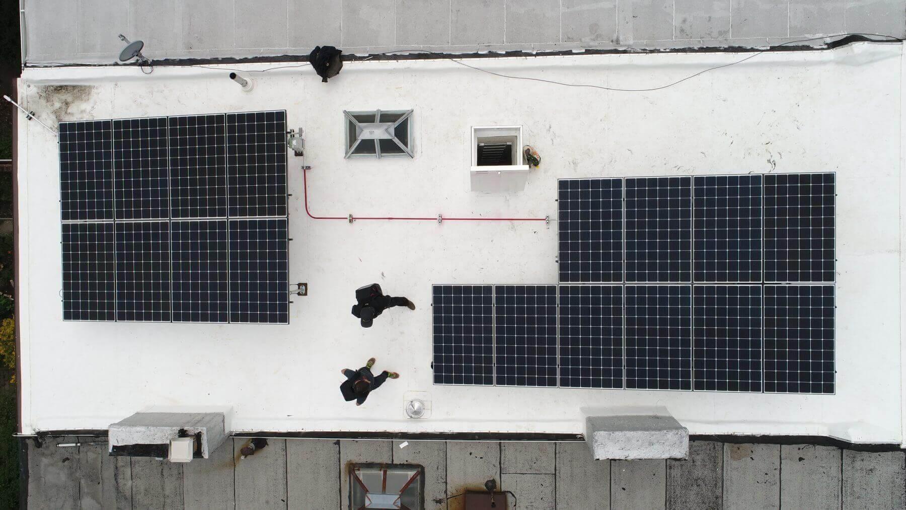 solar tilt rack aerial