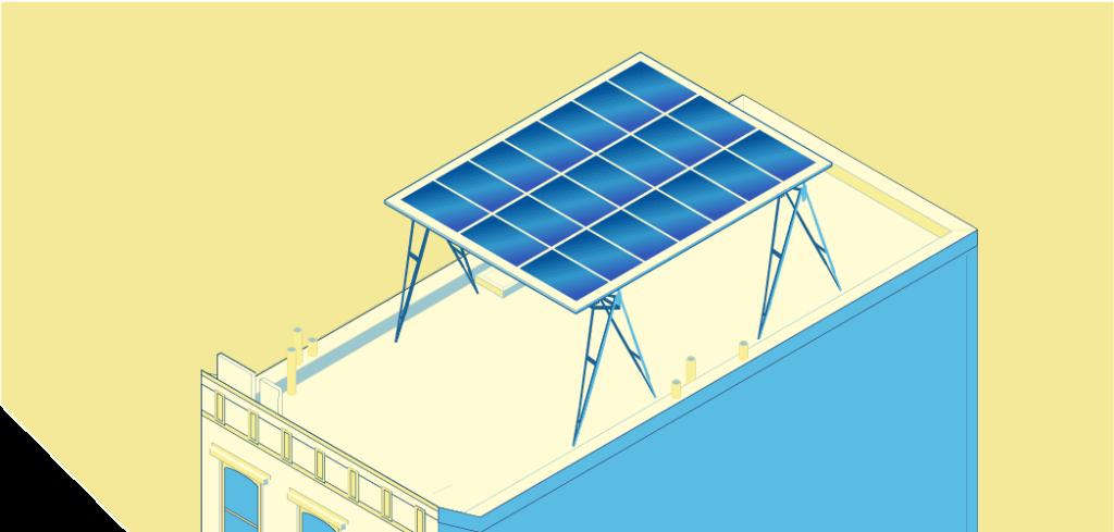 solar canopy aerial