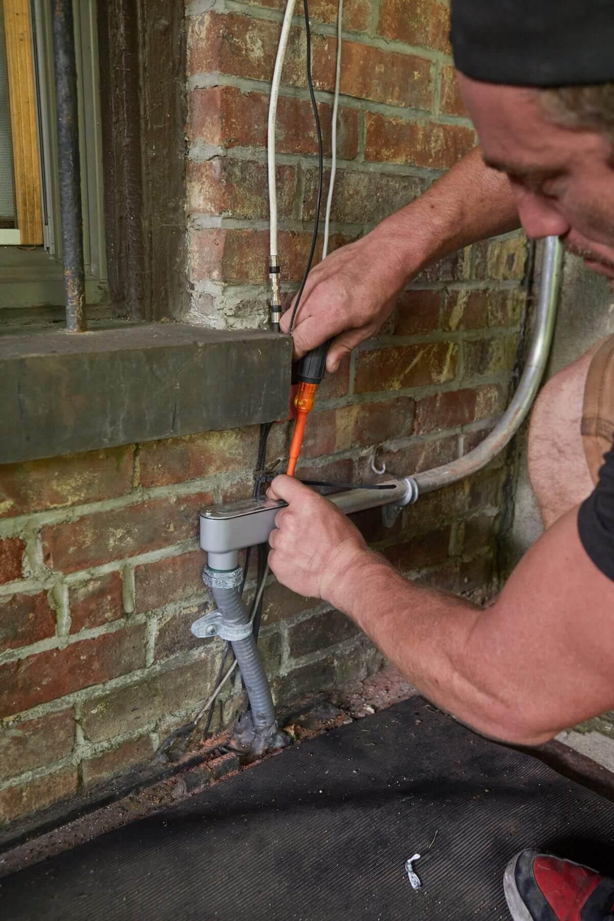Wiring installation in progress