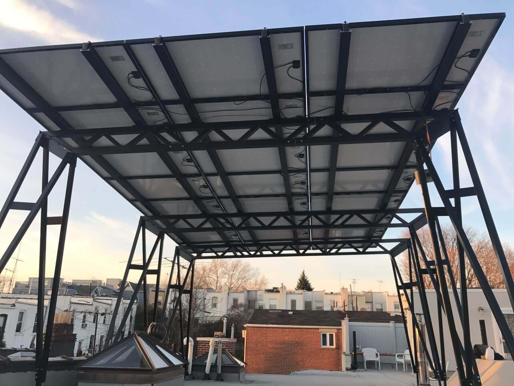 Assembled solar panels