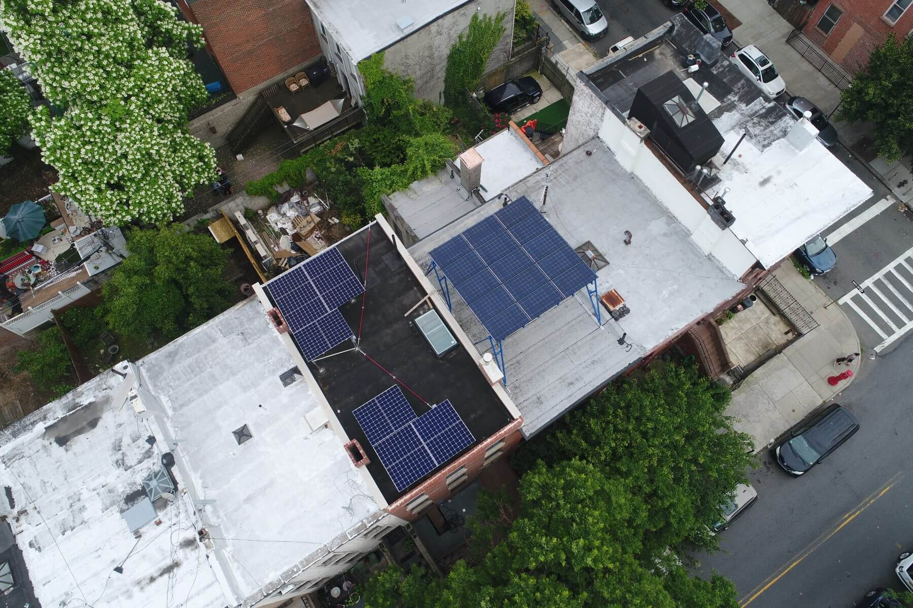 solar system on flat roof