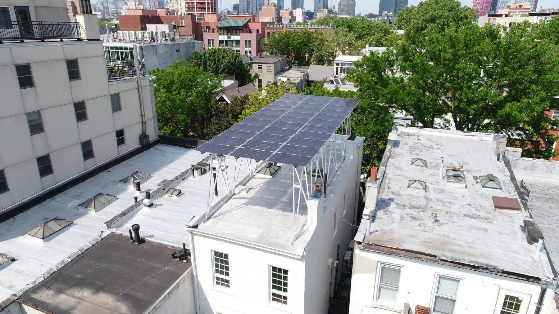 solar canopy Park Slope Brooklyn