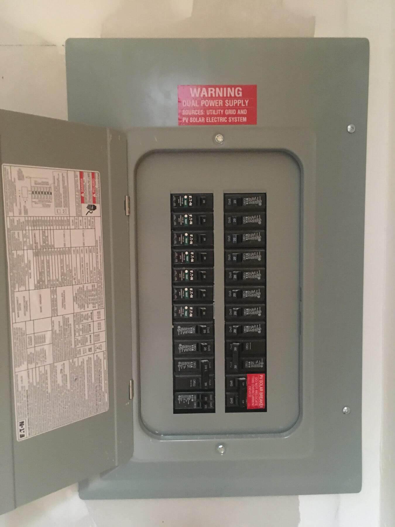 Solar Breaker Panel