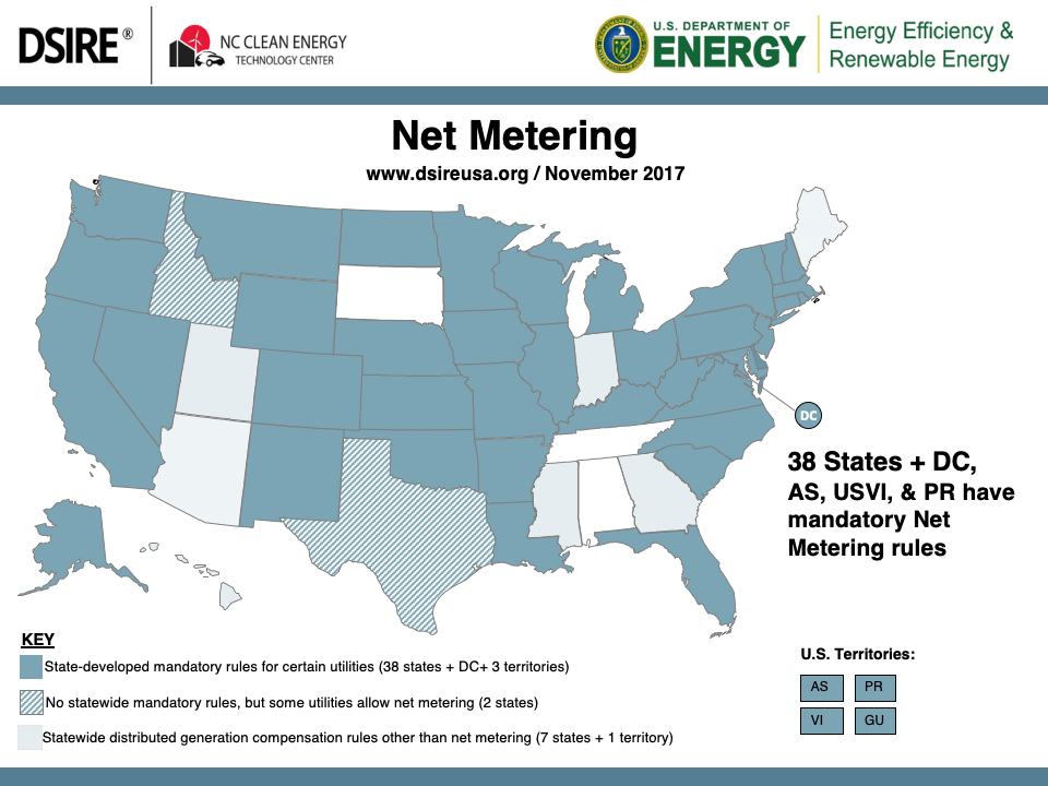 net metering United States map