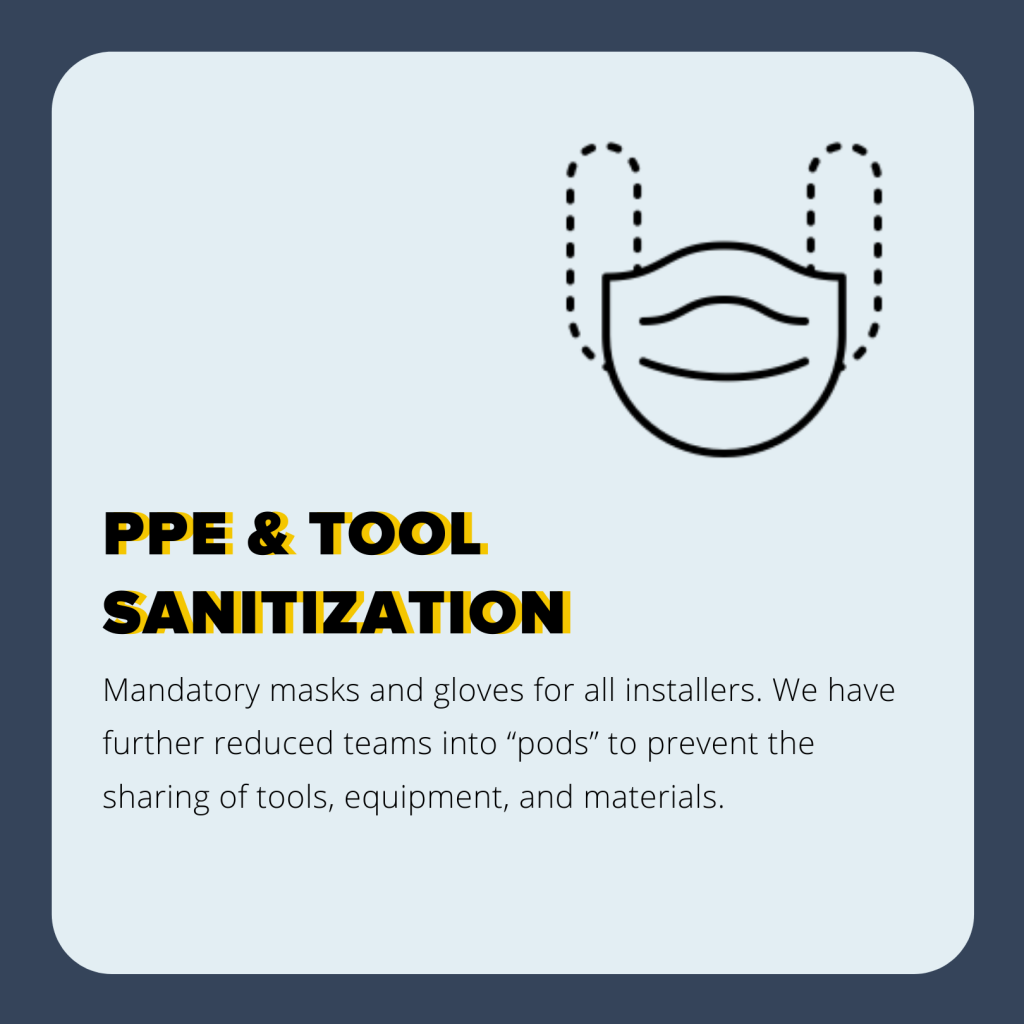 PPE&Tool Sanitization Banner