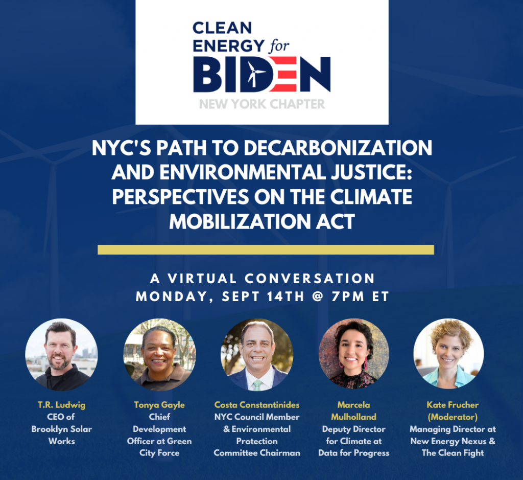 Clean Energy for Biden panel