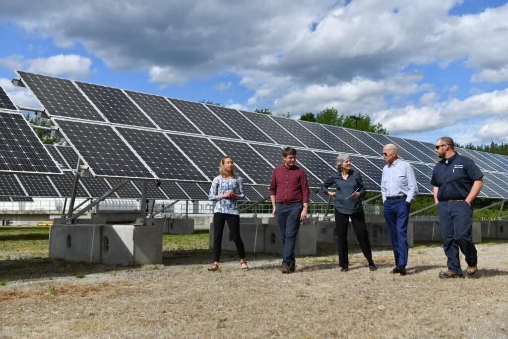 Clean Energy for Biden solar panels