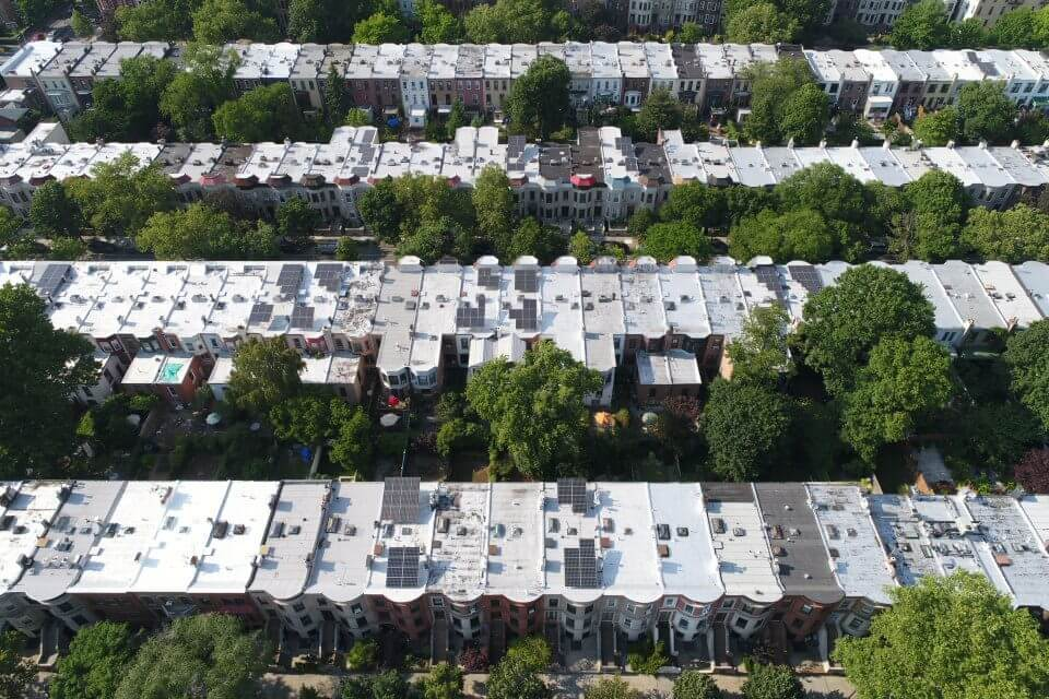 solar, flat roof, brooklyn, home solar, residential solar, climate change nyc, carbon footprint, community, clean energy, ripple effect